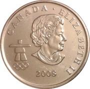 25 cents Vancouver 2010 (Ski acrobatique) -  avers