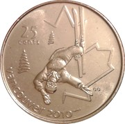 25 cents Vancouver 2010 (Ski acrobatique) -  revers