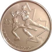 25 cents Vancouver 2010 (Patinage Artistique) -  revers