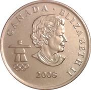 25 cents Vancouver 2010 (Surf des neiges) -  avers
