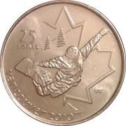 25 cents Vancouver 2010 (Surf des neiges) -  revers