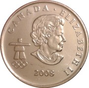 25 cents Vancouver 2010 (Bobsleigh) -  avers