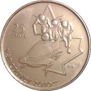 25 cents Vancouver 2010 (Bobsleigh) -  revers
