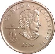 25 cents Vancouver 2010 (Patinage de vitesse) -  avers