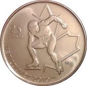 25 cents Vancouver 2010 (Patinage de vitesse) -  revers