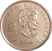 25 cents Vancouver 2010 (Hockey sur luge) -  avers