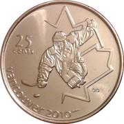 25 cents Vancouver 2010 (Hockey sur luge) -  revers