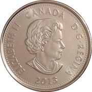 25 cents Salaberry (colorée) -  avers