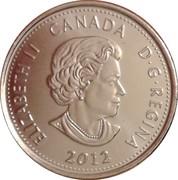 25 cents Isaac Brock (colorée) -  avers