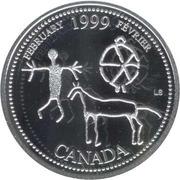 25 cents Février 1999 (argent) -  revers