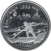25 cents Mars 1999 (argent) -  revers