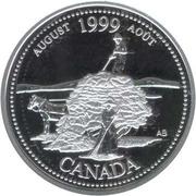 25 cents Août 1999 (argent) -  revers