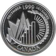 25 cents Décembre 1999 (argent) -  revers
