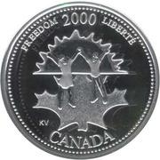 25 cents Millénaire Liberté (argent) -  revers