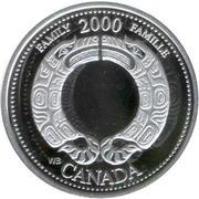 25 cents Millénaire Famille (argent) -  revers
