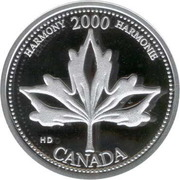 25 cents Millénaire Harmonie (argent) -  revers