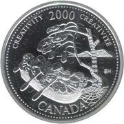 25 cents Millénaire Créativité (argent) -  revers
