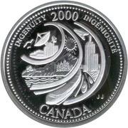 25 cents Millénaire Ingéniosité (argent) -  revers