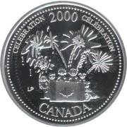 25 cents Millénaire Célébration (argent) -  revers