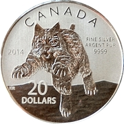 20 dollars Elizabeth II (Lynx roux) -  revers