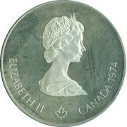 5 dollars Olympiades de Montréal (Canoë) -  avers