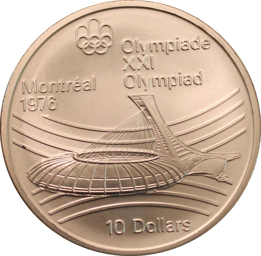 10 Dollars Olympiades De Montréal Le Stade Olympique Canada
