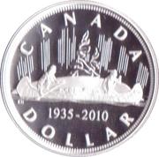 1 dollar Voyageur (75ème anniversaire) -  revers