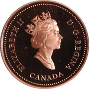 1 cent Monnaie royale canadienne (90 ans, fini miroir) – avers