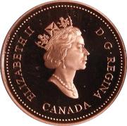 1 cent Monnaie royale canadienne (90 ans, fini miroir) – avers