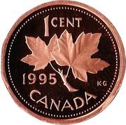 1 cent Elizabeth II (3e effigie, dodécagonale) – revers