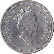 5 cents La confédération (125 ans) -  avers