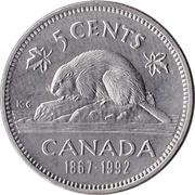 5 cents La confédération (125 ans) -  revers