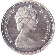 10 cents Elizabeth II (2e effigie, argent) -  avers