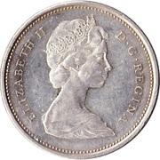 25 cents Elizabeth II (2e effigie, argent 800‰) -  avers