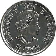 25 cents Coquelicot (colorée) -  avers