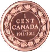 1 cent Georges V (Dollar en argent) – revers