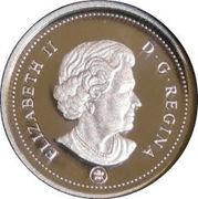 1 cent Elizabeth II (4ème effigie; argent plaqué d'or) – avers