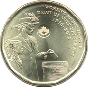 1 dollar Le droit de vote des femmes -  revers