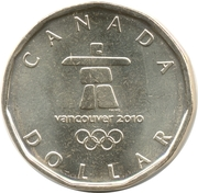1 dollar Porte-bonheur 2010 -  revers