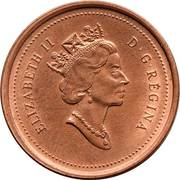 1 cent Elizabeth II (3e effigie, ronde) – avers