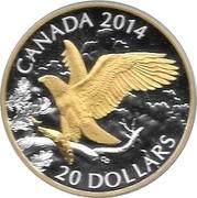 20 dollars Elizabeth II (Pygargue à tête blanche perché) -  revers