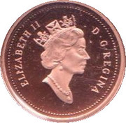 1 cent Elizabeth II (3ème effigie, Feuille plaquée d'or) – avers
