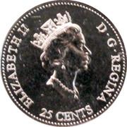 25 cents Millénaire Célébration (colorée) -  avers