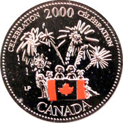25 cents Millénaire Célébration (colorée) -  revers