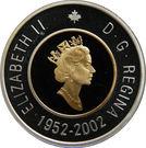 2 dollars Jubilé d'or de Elizabeth II (épreuve) – avers