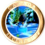 50 cents Bonhomme de neige (colorée) -  avers