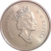 5 cents Elizabeth II (3e effigie, acier plaqué nickel) -  avers