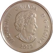 25 cents Tecumseh (colorée) -  avers