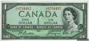 1 Dollar (Sans face du Diable) – avers
