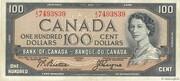 100 Dollars (Sans face de Diable) – avers
